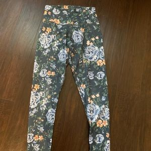 DYI flower leggings full length